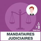 Adresses e-mails mandataires judiciaires