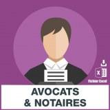 Adresses e-mails avocats et notaires