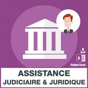 Emails Assistance Judiciaire Juridique