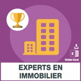 Emails des experts en immobilier