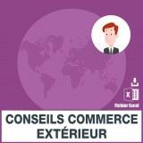 Emails conseils commerce exterieur