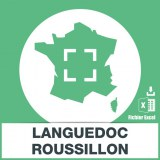 Adresses emails Languedoc-Roussillon