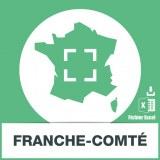Base adresses emails Franche-Comté