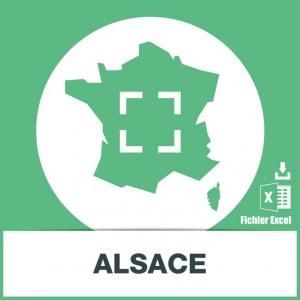 Base adresses emails Alsace