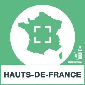 Base adresses emails Hauts-de-France