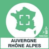 Base emails Auvergne Rhône Alpes