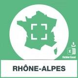 Base adresses emails Rhône-Alpes