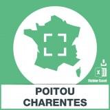 Base d'adresses emails Poitou-Charentes