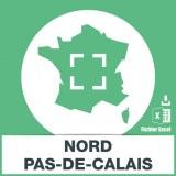 Adresses emails Nord-Pas-de-Calais