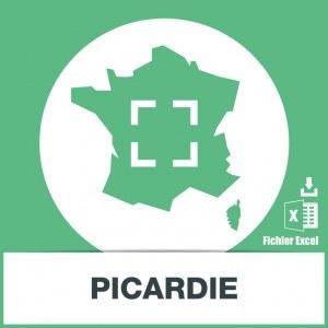Base d'adresses emails de la Picardie