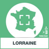 Base d'adresses emails de la Lorraine
