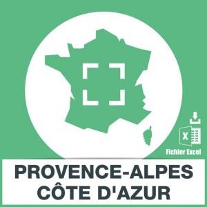 Base adresses e-mails paca Provence-Alpes-Côte d'Azur
