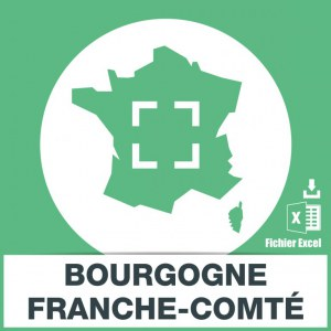 Base emails Bourgogne-Franche-Comté