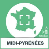 Adresses emails de Midi-Pyrénées