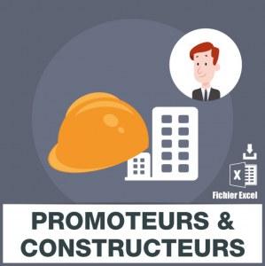 Emails de promoteurs constructeurs