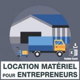 Emails location matériel pour entrepreneurs