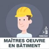 Adresses emails maitres oeuvre en bâtiment