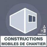 Emails des constructions mobiles de chantier