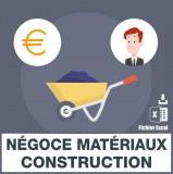 Emails négoces matériaux construction