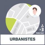 Base d'adresses emails des urbanistes