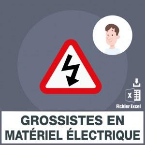 Adresses emails grossistes électriques
