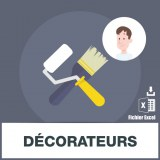 Base adresses emails décorateurs