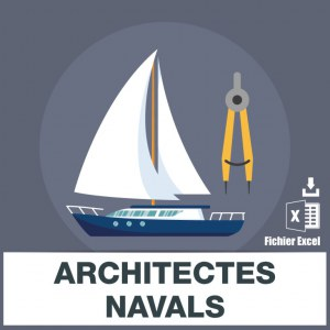 Adresses e-mails architectes navals