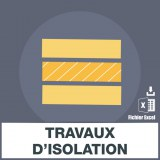 Adresses e-mails travaux isolation