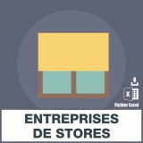 Base adresses emails stores