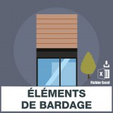 Adresses e-mails elements bardage