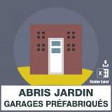 Emails abris de jardin et garages préfabriqués