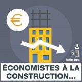 Emails des économistes à la construction métreurs vérificateurs