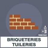 Adresses e-mails briqueteries tuileries