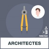 Base d'adresses emails d'architectes