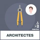 Base d'adresses emails d'architectes