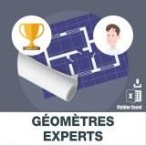 Adresses emails des géomètres-experts
