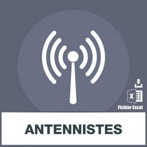 Base adresses e-mails antennistes