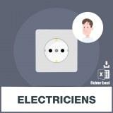 Base des adresses e-mails des électriciens