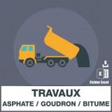 Emails de travaux d'asphalte goudron et bitume