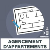 Emails agencement appartements