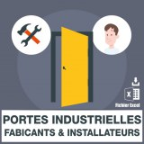 Emails de portes industrielles