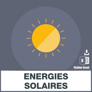 Base adresses emails énergies solaires
