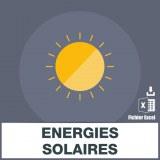 Base adresses emails énergies solaires