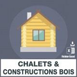 Emails de chalets et constructions bois