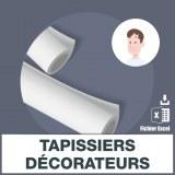Adresses emails tapissiers décorateurs