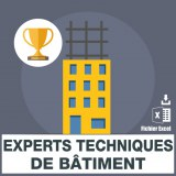 Emails experts techniques de bâtiment