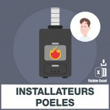 Adresses emails installateurs poeles