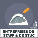 E-mails entreprises de staff stuc