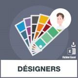 Adresses e-mails des designers