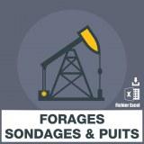 Emails travaux de forages sondages et puits
